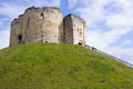 Cliffords Tower in York, England, UK Royalty Free Stock Photo