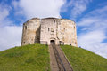 Cliffords Tower in York, nbgland, UK Royalty Free Stock Photo