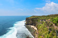 Cliffs above the sea, Nusa Dua, Bali, Indonesia Royalty Free Stock Image