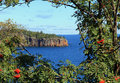Cliffs along lake superior in minnesota s side Royalty Free Stock Photos
