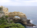 The cliffs and a arch at the Great ocean Royalty Free Stock Photo