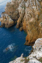 Cliffs in the brittany coast, France Stock Photo