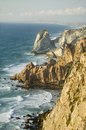 Cliffs of cabo da roca on the atlantic ocean in sintra portugal the westernmost point on the continent of europe which the poet Royalty Free Stock Photos