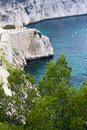 Cliffs of calanques near cassis Stock Photos