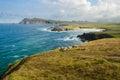 Cliffs on dingle peninsula the coastline at slea head ireland Stock Photo