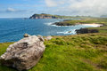 Cliffs on dingle peninsula the coastline at slea head ireland Stock Photography