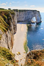 Cliffs of Etretat Stock Photography