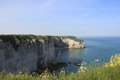 Cliffs at Etretat Royalty Free Stock Photo