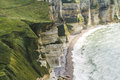 The cliffs of Etretat Royalty Free Stock Photo