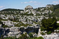 The Cliffs of Les Baux Stock Images
