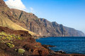 Cliffs of Los Gigantes. Tenerife. Spain Stock Image