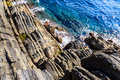 Cliffs and Mediterranean Sea Stock Photos