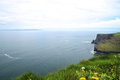 Cliffs of Moher and Aran Islands, Ireland Royalty Free Stock Photography