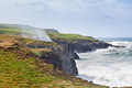 Cliffs of moher beautiful view on the at the coast ireland Stock Image
