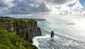 Cliffs of moher the in county clare are one the tallest sea in ireland and is a popular tourist destination Stock Image