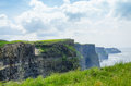 Cliffs of moher the are located in the parish liscannor at the south western edge the burren area near doolin which is Royalty Free Stock Photography
