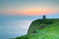Cliffs moher o briens tower ireland Stock Photography