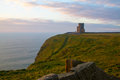 Cliffs of Moher and OBriens Tower Ireland Royalty Free Stock Photo