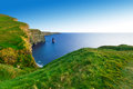Cliffs of moher at sunset co clare ireland Royalty Free Stock Images