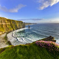 Cliffs of Moher at sunset, Co. Clare Royalty Free Stock Photo