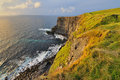 Cliffs of moher at sunset ireland Stock Image