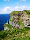 Cliffs of moher view aound the on the coast at the burren Royalty Free Stock Images
