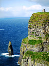 Cliffs of moher view aound the on the coast at the burren Stock Photo