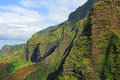 Cliffs of na pali coast kauai hawaii Royalty Free Stock Image