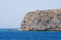 Cliffs near famous Balos beach, Crete, Greece Royalty Free Stock Photo