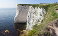 Cliffs near Old Harry Stock Image