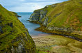 Cliffs at north of Scotland Stock Photo