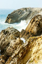 Cliffs at Sao Pedro de Moel Stock Photography