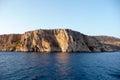 Cliffs and sea over the near nafplio greece Stock Image