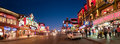 Clifton hill niagara falls ontario canada panorama a view of at twilight in Stock Photography