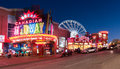 Clifton hill niagara falls ontario canada a view of at twilight in Royalty Free Stock Photography