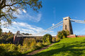 Clifton suspension bridge in bristol england Royalty Free Stock Photos