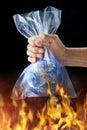 Podnebí plastický plasty taška