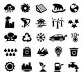 Climate change global warming ecology environment vector illustration of icons best for climatology conservation design element Stock Photo