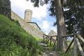 Climb to the castle in one of most beautiful places in italy campo ligure near genoa Stock Photography