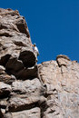 Climber on cliff Royalty Free Stock Images
