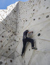 Climber at climbing wall Royalty Free Stock Photo