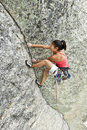Climber gripping the rock. Stock Photography