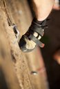 Climber's foot Stock Photos