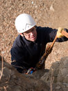 Climber with tired face Stock Image