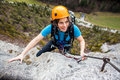Climber young woman having fun Royalty Free Stock Photos