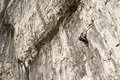 Climbers at Malham Cove Yorkshire Dales Stock Images