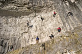 Climbers at Malham Cove Yorkshire Dales Royalty Free Stock Photo