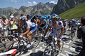 Climbing the Col du Tourmalet Royalty Free Stock Photo