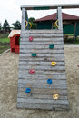 Climbing for kids place in playground Royalty Free Stock Images