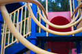 Climbing ladder at a childs playground. Royalty Free Stock Photo